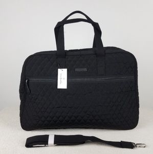 Vera Bradley Black Grand Traveler Bag NWT